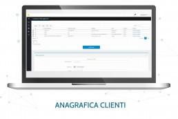 Pagina gestione anagrafica clienti CRM Durian